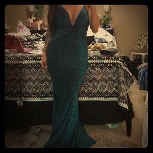 Fashion Nova Mermaid Teal Dress